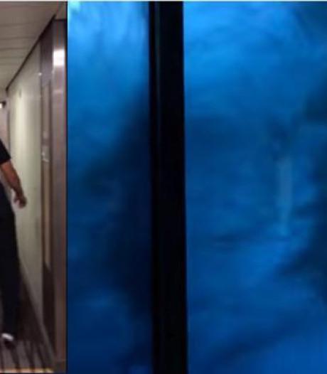 Filmpje zware storm op cruiseschip opgedoken